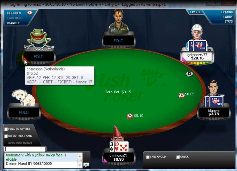 full tilt casino not showing